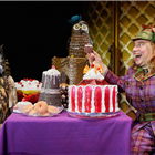 Richard James in Awful Auntie at Bloomsbury Theatre, London. Photo credit: Mark Douet