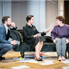 John Light, Amanda Abbington and Laurie Kynaston in The Son at the Kiln Theatre. Photo by Marc Brenner