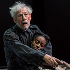 Ian McKellen and Anita Joy Uwajeh in King Lear at the Duke of Yorks Theatre. Photo credit: Joahn Persson