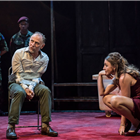 Danny Webb and Kirsty Bushell in King Lear at the Duke of Yorks Theatre. Photo credit: Joahn Persson