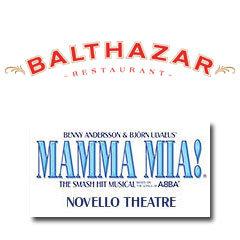 Book Mamma Mia! + 2 Course Pre-Theatre Dinner at Balthazar  Tickets