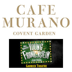 Book Young Frankenstein + FREE 2 Course Pre-Theatre Dinner at Café Murano Tickets