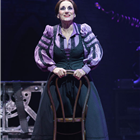 Lesley Joseph in Young Frankenstein at the Garrick Theatre, London. Photo credit: Manuel Harlan