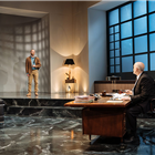 Matthew Pidgeon and John Malcokovich in Bitter Wheat at Garrick Theatre - Photo credit Manuel Harlan