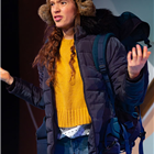 Gemma Barnett in A Hundred Words for Snow at Trafalgar Studios 2