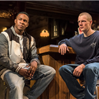 Osy Ikhile (Chris) and Patrick Gibson (Jason) in Sweat at the Gielgud Theatre. Photo credit: Johan Persson.