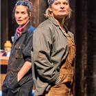 Leanne Best (Jessie) and Martha Plimpton (Tracey) in Sweat at the Gielgud Theatre. Photo credit: Johan Persson.