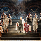 The West End production of Imperium at the Gielgud Theatre, London. Photo credit: Manuel Harlan
