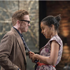 Damian Lewis (Martin) and Sophie Okonedo (Stevie) in Edward Albee's The Goat, Or Who Is Sylvia. Photo by Johan Persson