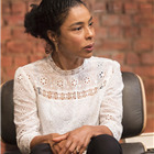 Sophie Okonedo (Stevie) in Edward Albee's The Goat, Or Who Is Sylvia. Photo by Johan Persson