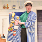David Scotland as Milkman in The Tiger Who Came To Tea at the Theatre Royal Haymarket. Photo credit: Robert Day