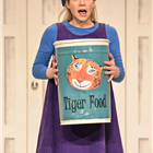 Jocelyn Zackon as Sophie in The Tiger Who Came To Tea at the Theatre Royal Haymarket. Photo credit: Robert Day