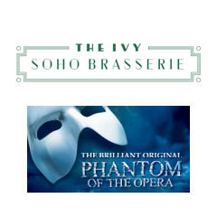 Book The Phantom Of The Opera + 3 Course Pre-Theatre Dinner at The Ivy Soho Brasserie Tickets