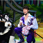 Lukus Alexander as Eileen The Cat & Charlie Stemp as Dick Whittington. Credit: Paul Coltas.