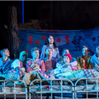 The cast of Peter Pan at the Regent's Park Open Air Theatre, London. Photo credit: Johan Persson