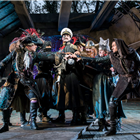 Hook and the Pirates in Peter Pan at the Regent's Park Open Air Theatre, London. Photo credit: Johan Persson
