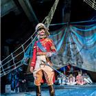 Dennis Herdman as Hook in Peter Pan at the Regent's Park Open Air Theatre, London. Photo credit: Johan Persson