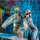 A mermaid in Peter Pan at the Regent's Park Open Air Theatre, London. Photo credit: Johan Persson
