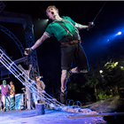 Sam Angell as Peter Pan at the Regent's Park Open Air Theatre, London. Photo credit: Johan Persson