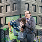 Marc Antolin and Forbes Masson in Little Shop of Horrors at the Regent's Park Open Air Theatre (by Johan Persson)