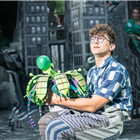 Marc Antolin in Little Shop of Horrors at the Regent's Park Open Air Theatre (by Johan Persson)