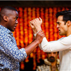 Ncuti Gatwa (Demetrius) and Ankur Bahl (Helenus). Photo by Steve Tanner.