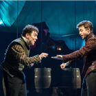 Joshua McGuire and Daniel Radcliffe in Rosencrantz & Guildenstern Are Dead. Photo by Manuel Harlan