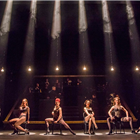 The cast of Chicago at the Phoenix Theatre, London.