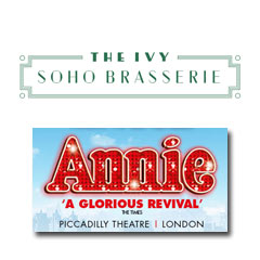 Book Annie + FREE 2 Course Pre-Theatre Dinner at The Ivy Soho Brasserie Tickets
