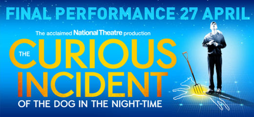 The Curious Incident of the Dog in the Night-Time is now on sale at the Piccadilly Theatre.