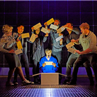 Joshua Jenkins (Christopher Boone) and company Curious Incident International Tour. Photo by Brinkhoff Mögenburg