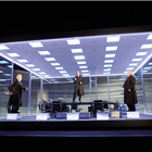 Ben Miles, Adam Godley and Simon Russell Beale in The Lehman Trilogy at the National Theatre. Photos of original cast. Photo Credit: Mark Douet.