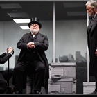 Adam Godley, Simon Russell Beale and Ben Miles in The Lehman Trilogy at the National Theatre. Photos of original cast. Photo Credit: Mark Douet.