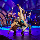 Danielle Steers as Zahara, Wayne Robinson as Jagwire and the company of Bat Out Of Hell - The Musical. Credit: Specular.