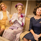 Honeysuckle Weeks, Maureen Lipman and Glynis Barber in The Best Man. Credit: Pamela Raith Photography