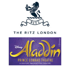 Book Aladdin + 3 Course Dinner & Glass of Champagne at The Ritz Tickets