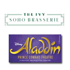 Book Aladdin + 2 Course Pre Theatre meal at the Ivy Soho Brasserie  Tickets