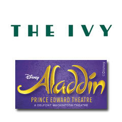 Book Aladdin + 2 Course Post-Theatre Dinner at The Ivy Tickets