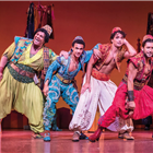 Babkak (Leon Craig), Omar (Miles Barrow), Aladdin (Matthew Croke) & Kassim (Daniel De Bourg) - photo by Johan Persson -® Disney