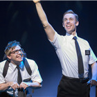 Brian Sears (Elder Cunningham) and Nic Roleau (Elder Price) in The Book Of Mormon at London's Prince Of Wales Theatre