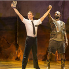 Nic Roleau (Elder Price) and Chris Jarman (General) in The Book Of Mormon at London's Prince Of Wales Theatre