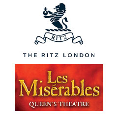 Book Les Misérables + 3 Course Lunch & Glass of Champagne at The Ritz Tickets
