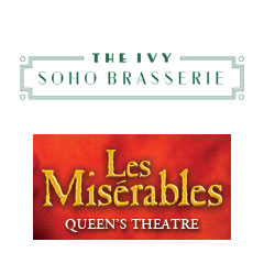 Book Les Miserables + 3 Course Pre-Theatre Dinner at The Ivy Soho Brasserie Tickets