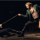 Jon Robyns as Jean Valjean and Bradley Jaden as Javert in Les Misérables – Photograph Johan Persson