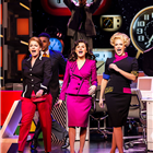 Caroline Sheen, Amber Davies and Natalie McQueen in 9 to 5 at the Savoy Theatre. Cast subject to change. Photography credit: Pamela Raith