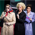 Caroline Sheen, Natalie McQueen and Amber Davies in 9 to 5 at the Savoy Theatre. Photography credit: Pamela Raith
