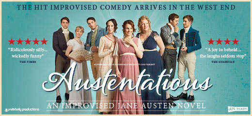 Austentatious has transferred to the Savoy Theatre