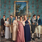 The West End cast of Austentatious! An Improvised Jane Austen Novel. Photo credit: Robert Viglaky.