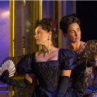 Joanna van Kampen and Rebecca Charles in An Ideal Husband at the Vaudeville Theatre