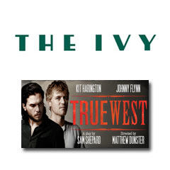 Book True West -  The Ivy - 2 Course Post Theatre Tickets